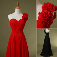 In Stock SD126 Brides Bridesmaid Dresses Red Black Bridesmai...