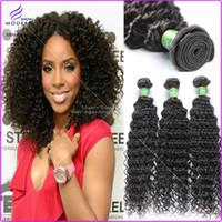 Wholesale Brazilian Virgin Hair Deep Curly Natural B Queen Hair Products Unprocessed Brazilian Deep Wave Curly Virgin Human Hair Weave