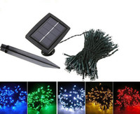 Wholesale Solar Power LED String Light m leds Lighting Garden Light Outdoor Solar Panel Light Christmas Holiday Decoration Lamp