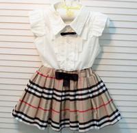 Fashion Dress Children Brand Sets Girls Summer Suits Shirt +...