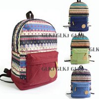 Wholesale Fashion Vintage Girls Boys Travel Canvas Backpack Rucksack Satchel School Bookbag Bag hot01