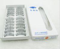 Wholesale 10Pair Of Reusable Natural and Regular Thick Long False Eyelashes Eyelash Eye Lashes Voluminous Makeup Hand made false eyelash