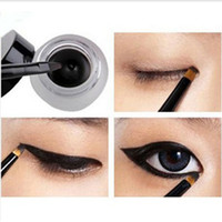 Wholesale 12 set Brand new Black Waterproof Eye Liner Eyeliner Gel Makeup Brush t95