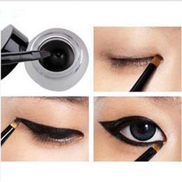Wholesale 12 set Brand new Black Waterproof Eye Liner Eyeliner Gel Makeup Brush t95