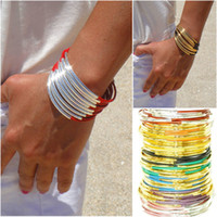 Womens Genuine Leather Bracelet with Gold or Silver Tube Acc...