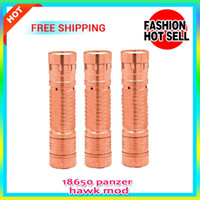 Wholesale 2014 Newly Mechanical Mod Stainless Black Red Copper Panzer Mod Vaporizer Battery Tube panzer E Cigarette mod factory price