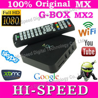 Wholesale Hot Selling G BOX AMLogic MX Android TV Box M6 Dual Core GB GB Cortex A9 ghz Support XBMC Youtube built in wifi i