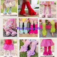 Wholesale Fashion Baby Girl Lace Socks Leg Warmer Stockings Covers Kids Ruffle Legwarm Kids Leggings Colors