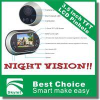 Wholesale 3 inch TFT LCD Pinhole Peephole Digital Door Eye Camera Viewer Doorbell Don t Disturb Function Video Peephole Door Bell H10686