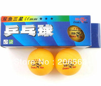 Wholesale 10 Boxes Double Fish Stars MM Olympic Table Tennis Orange Ping Pong Balls YH