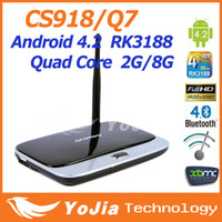 Wholesale CS918 MK888 Q7 K R42 Android Quad Core RK3188 TV Box GB Ram GB Rom XBMC Preinstalled with Mini PC