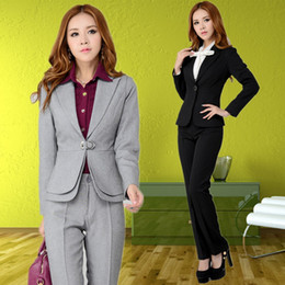 Wholesale Fashion new fall business suits for women sets elegant coat and Pants sets autumn Autumn female blazer