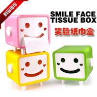 Cheap Home desktop coffee table tissue box tissue pumping smiley pumping paper box