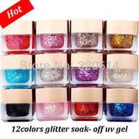Wholesale New Products Primer12pcs set Mixed Colors Nail Art Fine Glitter Dust UV Gel Set Nail Extension DIY Builder Gel Free Ship