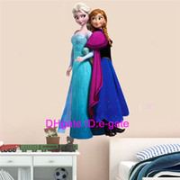 Wholesale Frozen Movie Anna and Elsa Wall Stickers Kids Room Nursery Wall Decor