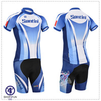 Short santini - Santini short sleeves cycling jersey best selling cycling jersey set BLUE color size XS XL