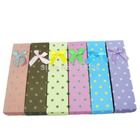 Wholesale x5 x3 cm Mixed Fashion Paper Jewelry Necklace Gift Packaging Display Box Case