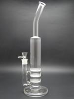 al por mayor 16.5 pulgadas-Tubos de agua de vidrio de 16,5 pulgadas pipa de vidrio tubo de fumar pipa de vidrio de agua con perc 18.8mm peine de miel