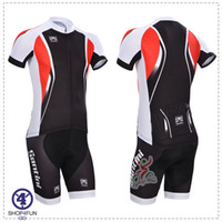 Wholesale 2014 Santini short sleeves cycling jersey best selling cycling jersey set BLACK amp RED color size XS XL