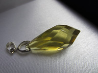 Pendant Necklaces   Wholesale Natural citrine yellow crystal pendant apotropaic angels tears fashion hanging buckle women fashion jewelry
