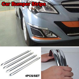 Wholesale Universal Car Front Rear Anti Collision Anti rub Anti scratch Bumper Strip Linear Stickers Car Decoration Guard Protector Bar