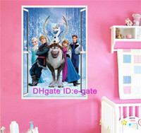 Wholesale Frozen d Window Wall Stickers for Kids Wall Decal Stickers Removable Kids Room Nursery Wall Decor