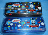 Fabric   9%off,in stock!Fashion!High quality! Grade!Children's cartoon! THOMAS double zipper pencil case!drop shipping,hot sale,1pcs lot,AB