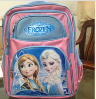 Wholesale In Stock NEW HOT Frozen children s school bags learning education Animated cartoon for kids best gift elsa anna backpack