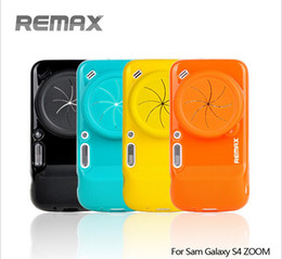 Wholesale 2016 NEW High Quality Original Remax Soft Silicon Case With Camera Protetive Cap For Samsung S4 Zoom C101 Back Cover Colors best partner