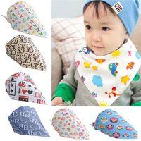 Wholesale Fashion Baby Kid Toddler Bandana Bibs Saliva Towel Dribble Triangle boy girls cotton Head Scarf