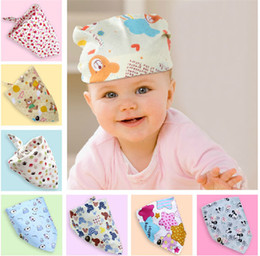 Wholesale Fashion Baby Kid Toddler Bandana Bibs Saliva Towel Dribble Triangle boy girls cotton Head Scarf colors