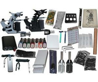 Beginner Kit   USA Dispatch_NEW Professional Machines Tattoo KIT 2 Machine GUN Equipment INK GUN SET US0005