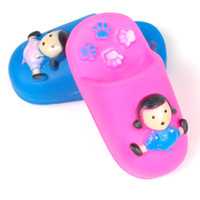 Wholesale 5pcs Cute Funny Pet Dog Cat Puppy Sound Squeaky Rubber Chewing Toys Doll Slippers LX0091 amp DropShipping