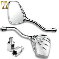 Wholesale CHROME SKULL CLAW REARVIEW MIRRORS HONDE SHADOW REBEL VTX VT