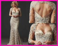Wholesale Gorgeous Beaded Lace Mermaid Mother of the Bride Dresses Gowns With Jacket
