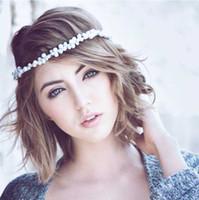 Wholesale bride simulated pearls hairband handmade head band bride wedding hair accessory hair ornament white H50