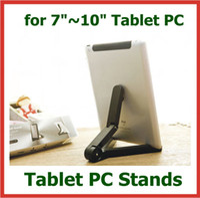 Wholesale 200pcs Universal Portable Fold up Stand Holder Bracket for Apple iPad Air Mini Black White Color DHL