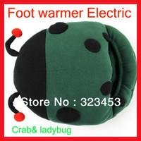 Wholesale Winter Cute Crab ladybug USB warmer feet treasure warm feet Plush USB Electric Heated Slipper Foot Warmer Shoes