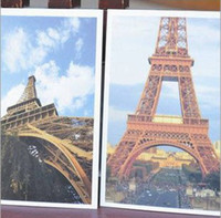 Valentine's Day The Eiffel Tower Series White Eiffel Tower Postcard Set(32pcs box)Wedding Gift Greeting Card Birthday Card Lomo Style Gift Cards
