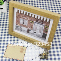 Bamboo & Wooden Yes Yellow Free Shipping Simple Wood Photo Frame DIY Photo Art Picture Frame Home Dector 23.5*18.3*2.6cm