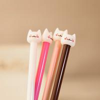 Wholesale 100PCS RANDOM Color Cute Loving Pussy Cat Neutral Pen Cartoon Pen