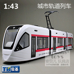 Wholesale Unique children s railway railroad train easy scale model car simulation vehicle streetcars german subway locomotive toys