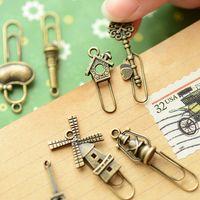 Wholesale Stationery gustless zakka clip paper clip vintage metal bookmark
