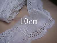 cotton - Off White Embroidered Cotton Lace trim DIY Craft sewing cm