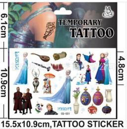 Wholesale 100pcs frozen tattoo stickers Cartoon Temporary Tattoo sticker cm x cm