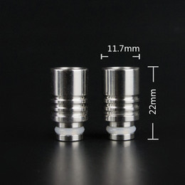 Stainless Steel Drip Tips Wide Bore Drip Tip Metal Drip TipsMouthpieces for CE4 CE5 Vivi Nova innokin iClear 16 EGO 510 Atomizer