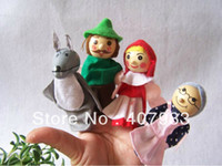 Girls 13-24 Months Gray little red riding finger puppets 200pcs hood a set of 4 styles plush wooden lovely children favourite mother tell story