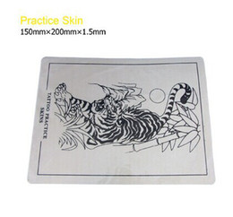 Wholesale 4pcs Tattoo practice skin x x cm skull tiger Dragon flower pattern for choose