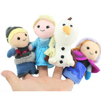 Wholesale Frozen Finger Puppet Set of Four Stuffed Toys Finger toy Olaf Kristoff Anna Else Plush dolls set of