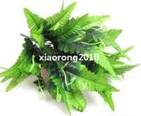 Wholesale NEW cm quot Length Artificial Silk Green Plants Simulation Fern Leaf Twelve Stems Per Bush Wedding Flower